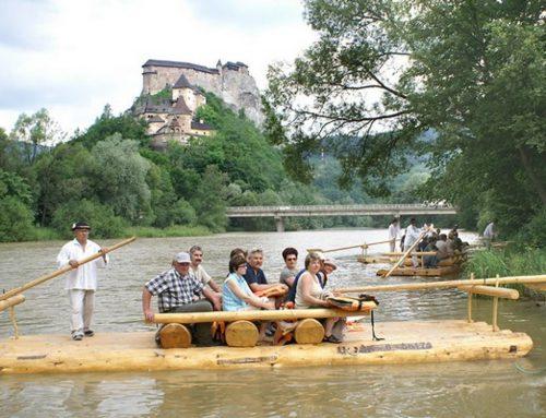 Splav rieky Orava plťou